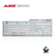 Ajazz Original AK35i 104 Teclas Blanco LED iluminado Ergonómico Backlight USB Wired Teclado Para Juegos Mecánicos Para El Ordenador portátil