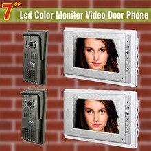 2 Camera 2 Monitor 7 inch monitor video door phone intercom doorbell Night Vision Hands-free intercommunication