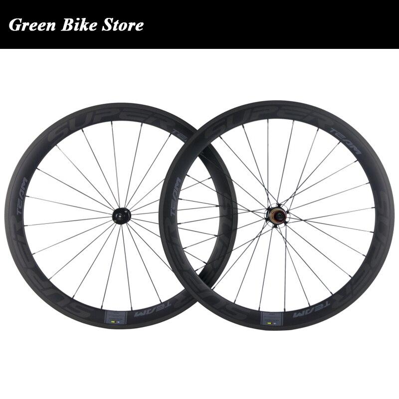 Новое поступление 700C дорожный велосипед 50 мм колеса углерода довод колесо с избранный керамический подшипник Sapim CX ray говорил углерода коле