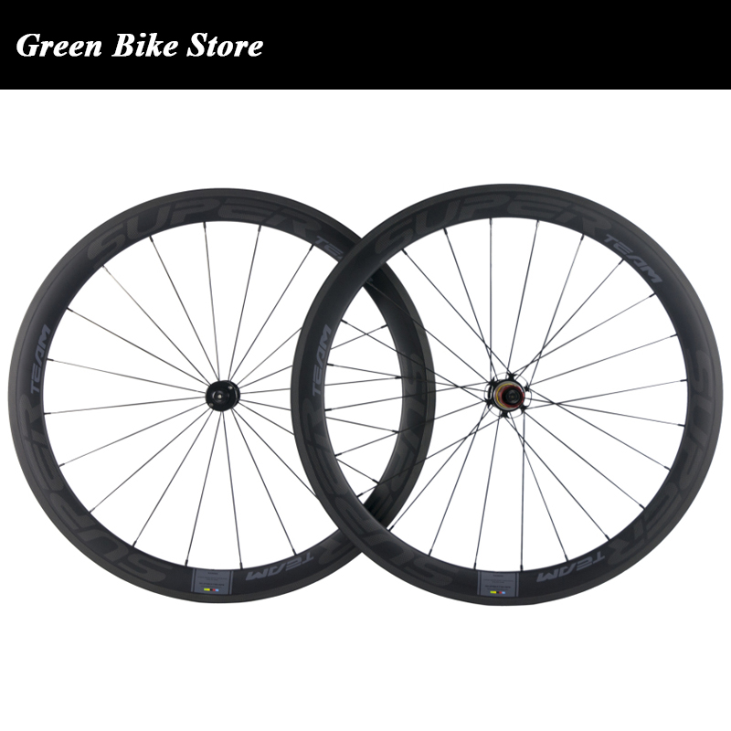 New arrival 700C road bicycle 50mm carbon wheels clincher wheel with chosen ceramic bearing sapim cx ray spoke carbon wheelset
