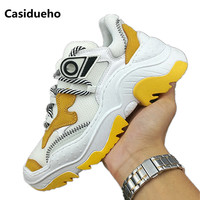 Casidueho Patchwork Sneakers Lace Up Shoes Woman Platform Zapatos Mujer Runaway Out doors Flats Fashion Tenis Feminino Sandals