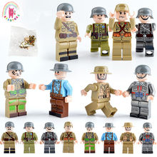 8 stks/set Militaire Figures Soldaat Warfare Gemonteerd bouwstenen Bricks set Compatibel Ww2 kinderen speelgoed(China)