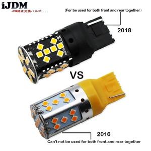 Image 4 - IJDM Canbus без ошибок, 7440 светодиодный, без Hyper Flash, 21 Вт, желтый, желтый, W21W, T20, светодиодный, Сменные лампы для автомобильных указателей поворота, 12 В