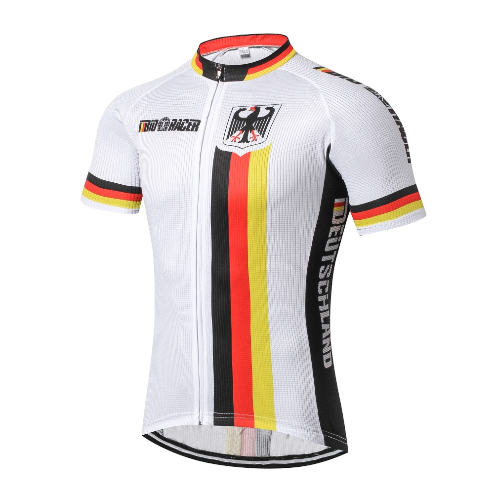 Weimostar Germany Deutschland cycling jersey road bike wear Ropa Ciclismo Sportswear Maillot Bicycle clothes Mtb Bike shirt