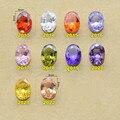 5 Pcs Shinny Egg-shaped Alta Qualidade Zircon Cristal Gemas Diamond para Gel Unha Polonês DIY Prego Jóias Acessórios atacado 8 MM