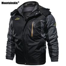 Mountainskin חדש חורף גברים של מעיילים עבה צמר חם מעיל גברים מעילי סלעית מעילי Mens מותג בגדים בתוספת גודל 7XL 8XL SA603