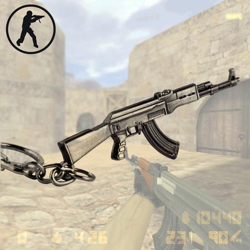 Novelty Counter Strike Senjata AK47 Keychain Untuk Pria CS PERGI - Perhiasan fashion - Foto 5