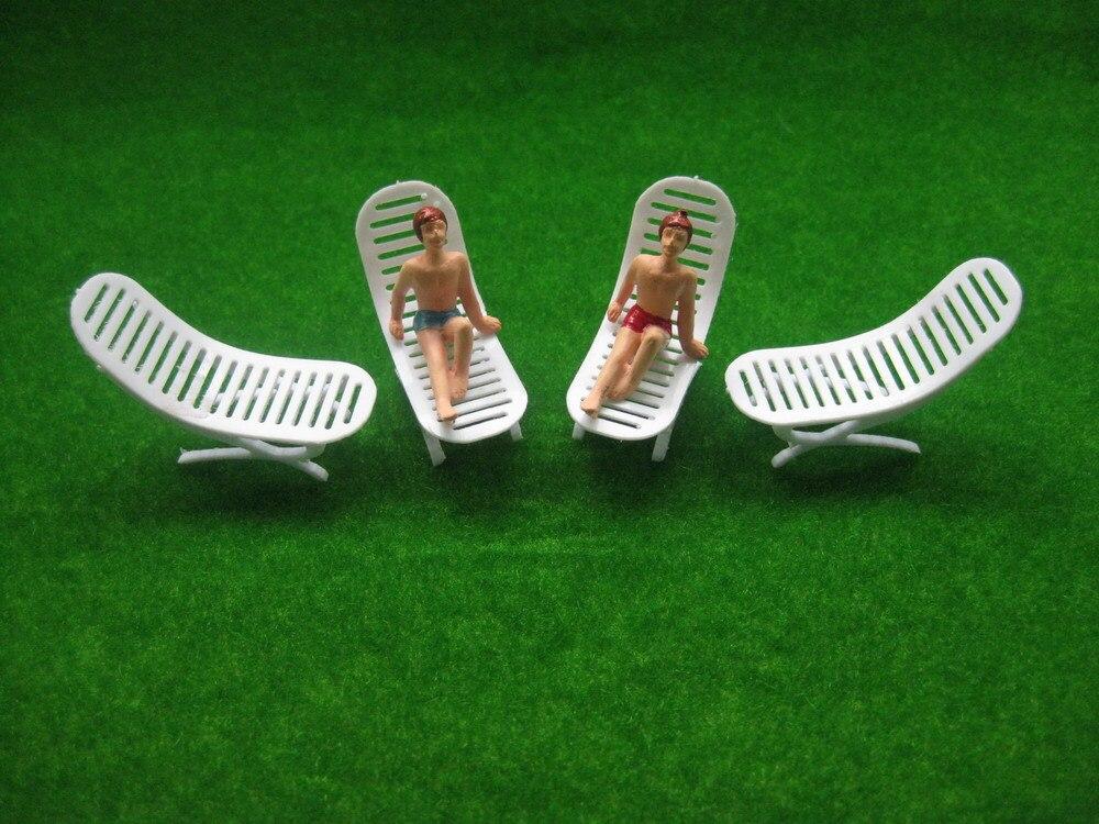 YZ4801 Model Railway Layout 1:48 Sun Loungers Beach Chairs O Scale NEW