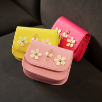 2016 Children Mini Handbags Kids Messenger Bags PU Party Crossbody Bag For Baby Girls Candy Color