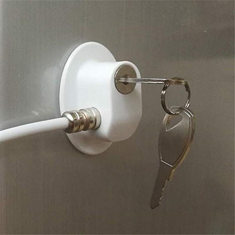 Купить с кэшбэком 2 Pcs/lot Child Baby Safety Refrigerator Freezer Door Lock with keys File Drawer Lock Window Cable Lock