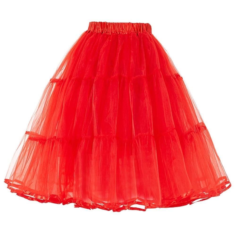 Tulle Rok Lipit Fluffy Rockabilly Ayunan Rok Underskirt Crinoline - Pakaian Wanita - Foto 5