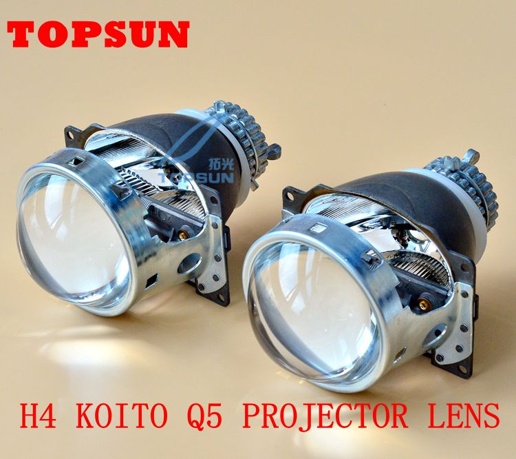 GZTOPHID Car Light Parts HID 3.0 inch Bifocal Koito Q5 H4 Projector Lens Use D2R D2S D2H Xenon Bulb With Excellent H/L Beam
