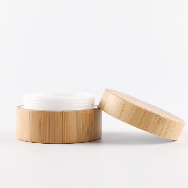 Купить с кэшбэком 5g 10g High Qualtiy Natural Bamboo Bottle Cream Jar Nail Art Mask Cream Refillable Empty Cosmetic Makeup Container Bottle