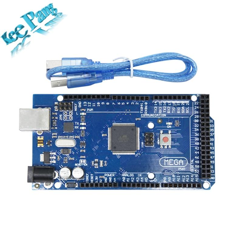 Mega 2560 R3 Board Part Mega2560 REV3 ATmega2560-16AU with USB Cable For Arduino Compatible 3D Printers Parts Integrated Circuit mega 2560 r3 rev3 atmega2560 16au совет кабель usb совместимый для arduino