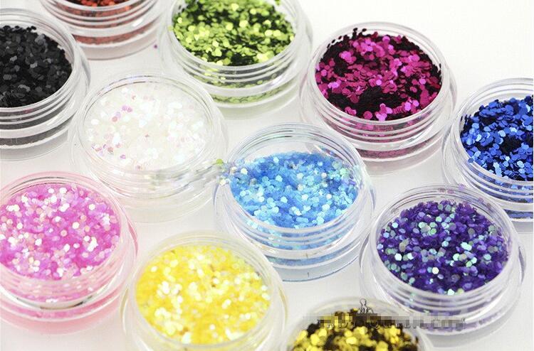 KüHn 12 Farbe Nail Art Hexagon Shiny Sparkle Glitter Flakes Pailletten Pulver Staub Tipps Maniküre Dekoration Schmerzen Haben Nails Art & Werkzeuge