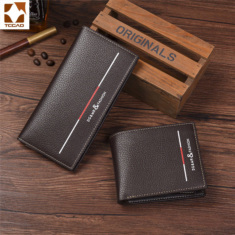 Men's Wallet Leather Male Carteira Masculina Long Male Cartera Hombre Men Wallets Portfel Short Purse Porte 2019 Feuille Homme