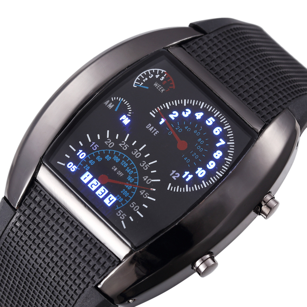 casual matrix cool digital auto relogio meter watch storehubworld led watches sports fashion flash racing dot unisex black dial car clock