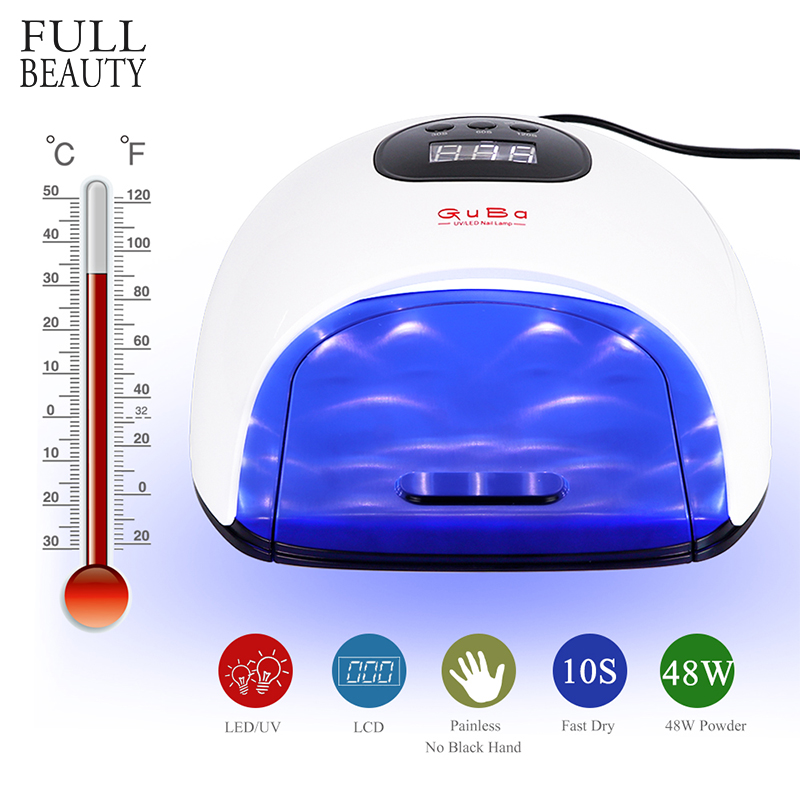 48W LED UV Lamp Nail Dryer Fast Dry Gel Varnish Curing Manicure Machine 30s/60s/120s Timer 36 LEDS Painless Nail Art Tools CH917
