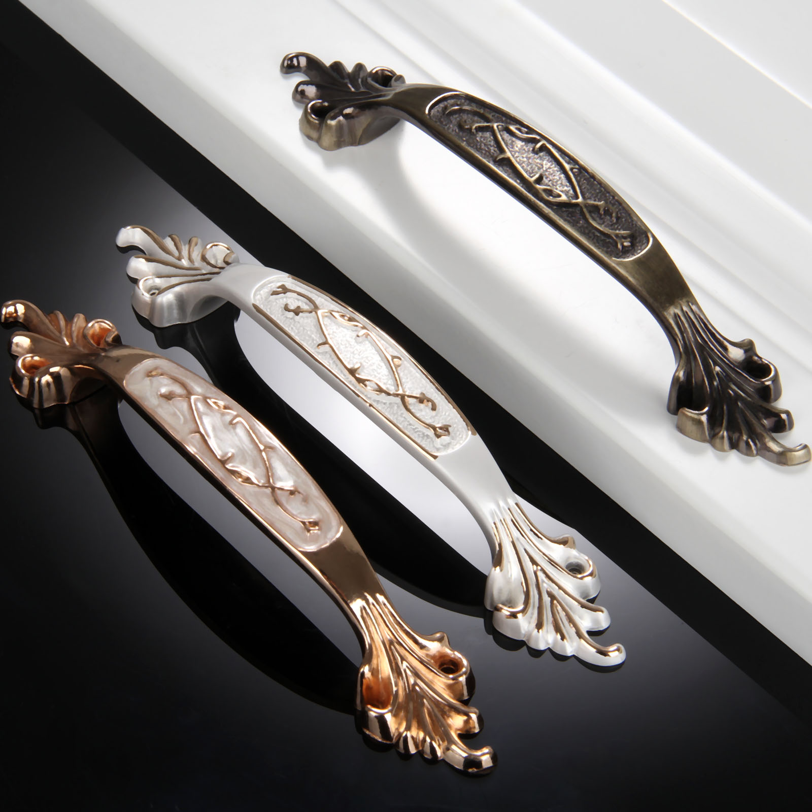 1Pc Furniture Handle 96mm Cabinet Knobs and Handle Zinc Alloy Door Knob Cupboard Drawer Kitchen Pull Handle Furniture Decoration 10 inch long cabinet handles and knobs drawer pull for furniture and cupboard simple wardrobe handle zinc alloy door handle