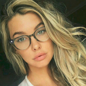 New Spectacle Classic Women Round Eyeglasses Frame Brand Designer Fashion Men Nail Decoration Optical Glasses Reading Glasses