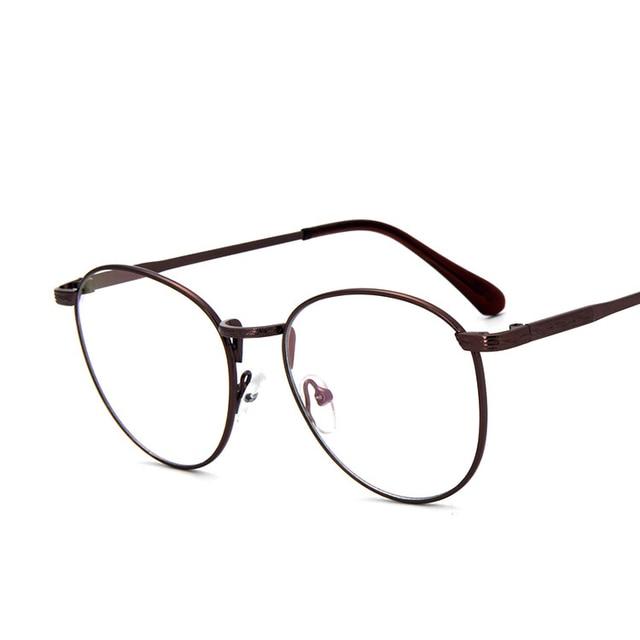 df12c79fc23 Engraving Round Thin Rim Vintage Retro Metal FullRim Optical Prescription  EYEGLASSES FRAMES Men Myopia Glasses 2978 RX Spectacle