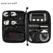Nuevos accesorios electrónicos Travel Bag Nylon organizador de viaje para hombre para línea de fecha SD Card USB Cable Digital Device Bag