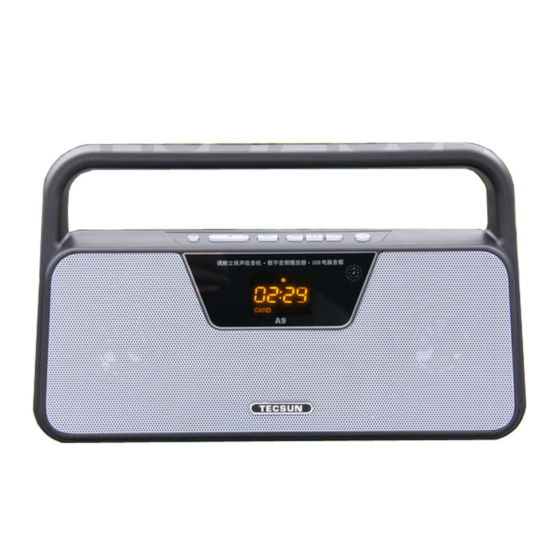 Free Shipping TECSUN A9 FM Stereo Radio Reception LED Digital Display MP3 Player Computer Speaker Radio