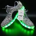 DIODO EMISSOR de Luz Sapatos 2016 Homens Da Moda Sapatos Iluminadas para Adultos Unisex Carregamento USB Colorido LED Light up Glowing Sapatos
