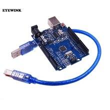 Placa de desarrollo, 10 Uds. UNO R3 (CH340G) MEGA328P para Arduino UNO R3 ATMEGA328P AU