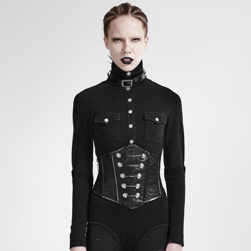2018 New Gothic Palace Pattern Waist Cross Bandage Belt Four-Breasted Zipper Ladies Court Belt Waist Shirt Accessories