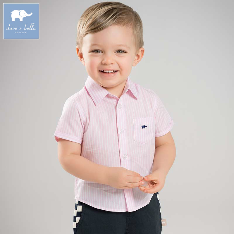 Shirts Dba6367 Dave Bella Frühling Baby Jungen Hemd Jungen Baumwolle Kleidung Baby Boutique Shirts Kinder Hohe Qualität Top Jungen Kleidung