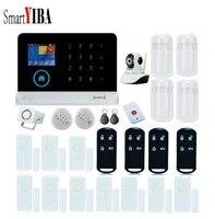 Smartyiba приложение Управление разных Язык WI FI безопасности GSM сигнализация дыма Камера наблюдения паники 433 мГц сигнализации Сенсор комплект