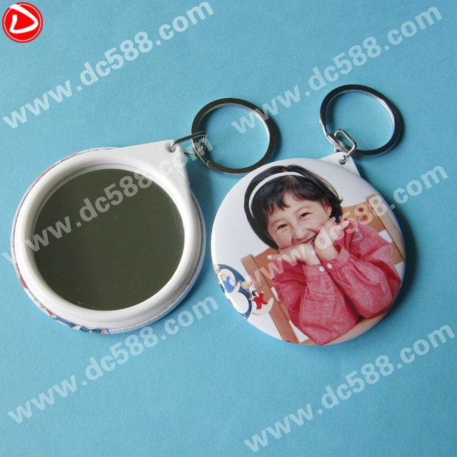 58MM badge mirror keychain componets,button badge consume material,badge material,button parts,badge making machine factory