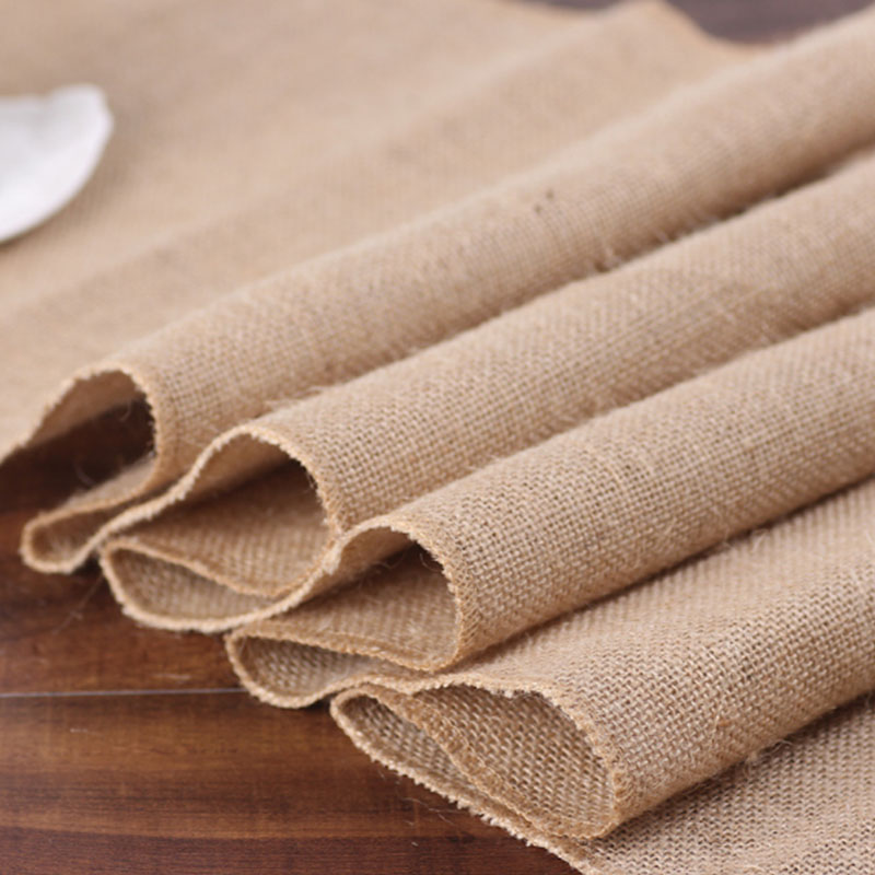 BALLE Vintage Burlap Table Runner Rustic Jute Linen Shabby Hessian Table Runner For Wedding Festival Party Event Decorations