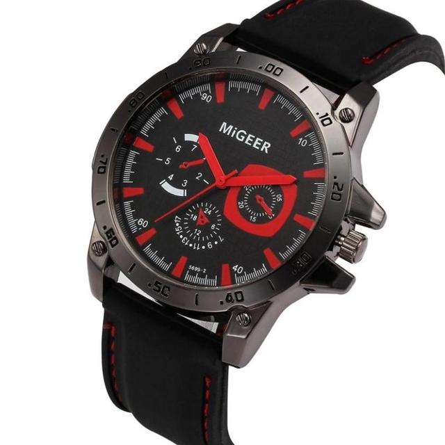 2018 Waterproof Male Clock Men Fashion Silicone strap Sport Cool Quartz Hours Wr