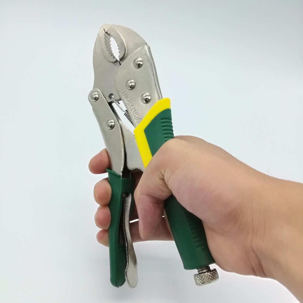 9 Inch Locking Pliers Gourd Mouth Straight Jaw Lock Mole Plier High Carbon Steel Wear Resistant Vise Grip Clamping Hand Tools 250mm 10 heavy duty alloy curved jaw locking plier mole vise grip wrench clamp en1708