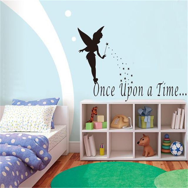 Cartoon Fairy Tale Once Upon A Time Quote Wall Stickers For Kids