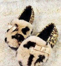 Free shipping New Winter  women 2015 hot shoes Top Brand Women Winter Loafers Casual Fur Warm Flats  Women Shoes