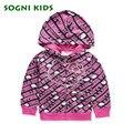 SOGNI ДЕТИ Девушки куртка Hello Kitty печатных детская одежда для девочек одежда с капюшоном куртки дети верхняя одежда качество и красота