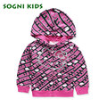 SOGNI KIDS Girls jacket Hello Kitty printed children clothing for girls clothes hooded  jacket kids outerwear quality and beauty