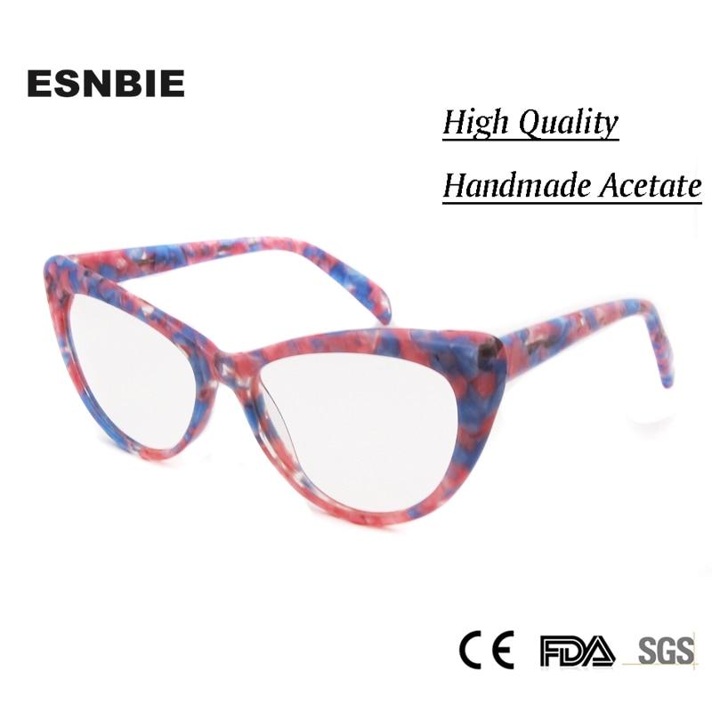 ESNBIE Ən Yeni Qadın Moda resepti Eyewear Butterfly Optical Eynəklər Qadın Aydın Lens Rx rəngli qadın geyimləri