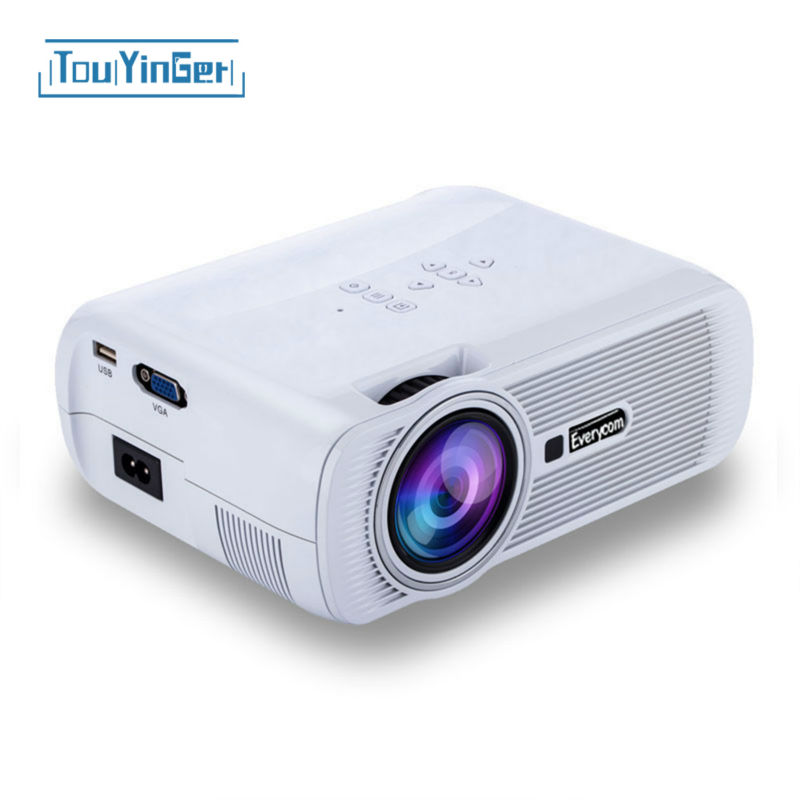 Original everycom x7 mini led tv projector hdmi home for Projector tv reviews