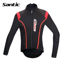 Santic Men Cycling Jacket Bike Winter Fleece Cycling Jackets Windproof Cycling Clothes Ciclismo Maillot Fit for 0-8 M5C01062R