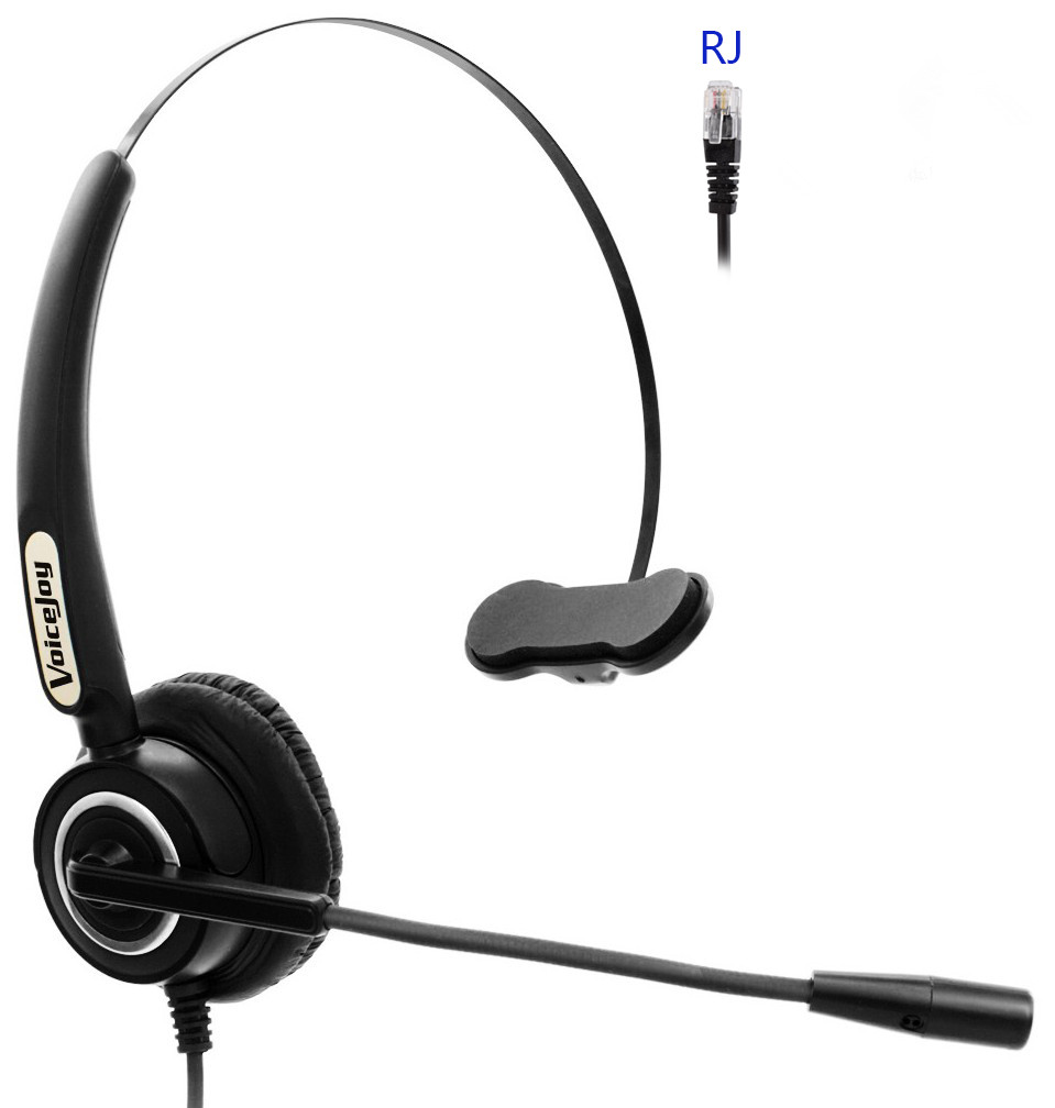 Monaural Noise Canceling office Headset with RJ9 /RJ11 plug telephone  headset for call center office