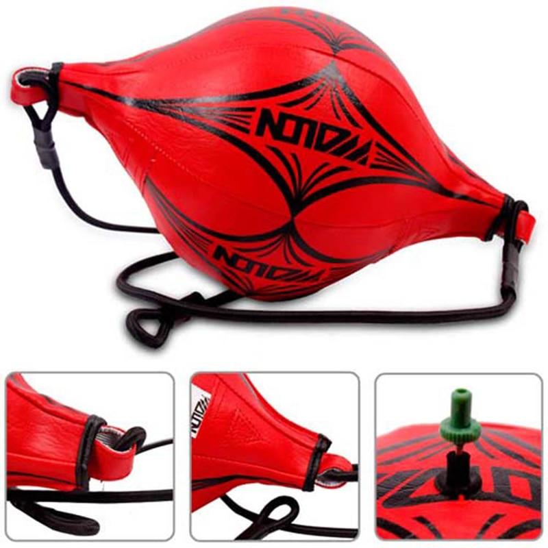 Новый двойной конец Смешанные боевые искусства Тренировка по боксу пробивая мешок скорость мяч Красный