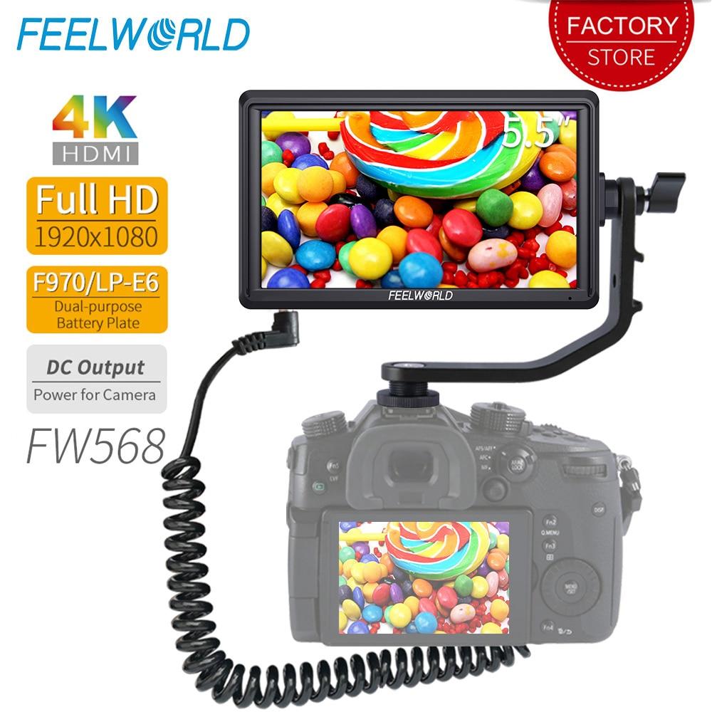 FEELWORLD FW568 5 5 inch DSLR Camera Field Monitor 4K HDMI Full HD 1920x1080 LCD IPS