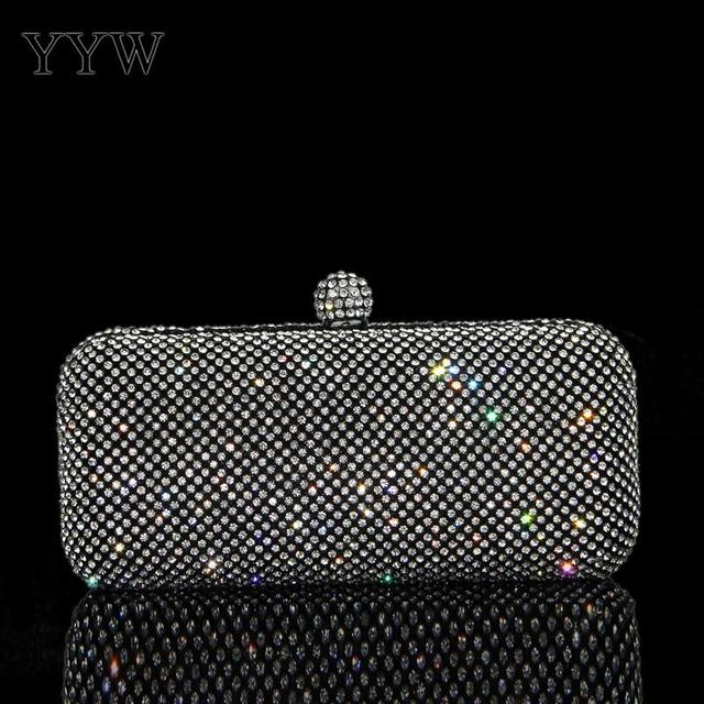 c0d15ae52bca Black Clutch Bags for Women 2018 Baguette Evening Bag with Rhinestone  Luxury Handbags Women Party Bags Designer Silver Purse