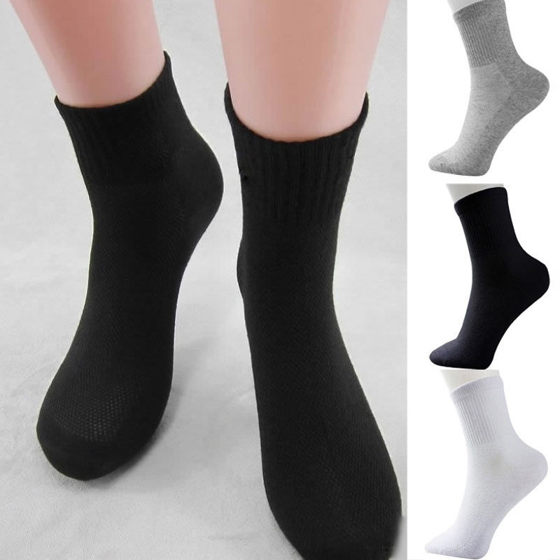 Hirigin 5 Pairs Men Women Cotton Socks Winter Thermal Casual Soft Male Breathable Sock Cushion Bulk NEW Size 9.5-11