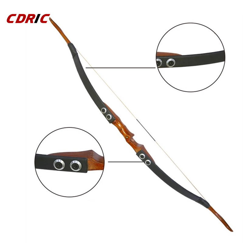 30/35/40/45/50IBS Traditional Black Recurve Bow Can Takeddown Bow For Archery Hunting Shooting