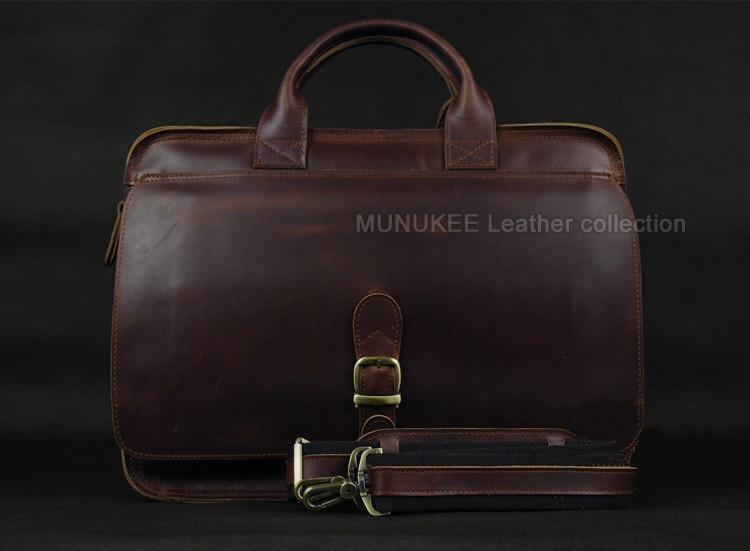 Luksuzna torba za laptop od prave kože za muškarce Laptop torba od - Aktovke - Foto 2